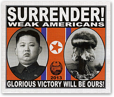 Surrender!  Weak Americans